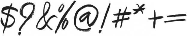 Brownight Script ttf (400) Font OTHER CHARS