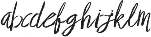 Brownight Script ttf (400) Font LOWERCASE