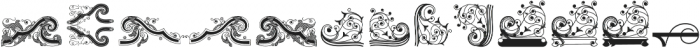 Bruce Ornaments Collection ttf (400) Font LOWERCASE