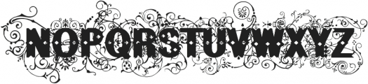 BruceFlourished Regular ttf (400) Font UPPERCASE