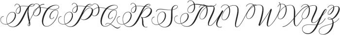 Brunella Style Upright otf (400) Font UPPERCASE