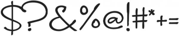 Brunette Regular otf (400) Font OTHER CHARS