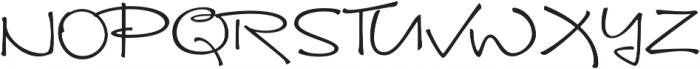 Brunette Regular otf (400) Font UPPERCASE