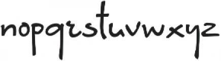 Brunette Regular otf (400) Font LOWERCASE