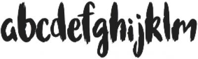 Bruscheetah otf (400) Font LOWERCASE