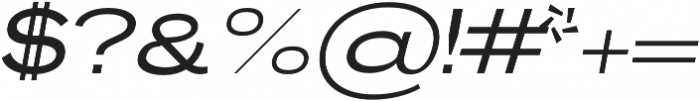 Brusco Regular Italic otf (400) Font OTHER CHARS