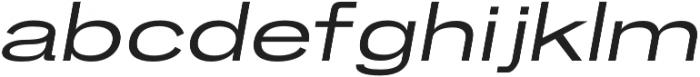 Brusco Regular Italic otf (400) Font LOWERCASE