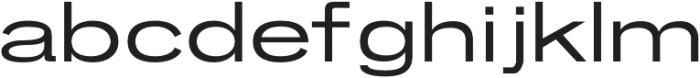 Brusco Regular otf (400) Font LOWERCASE