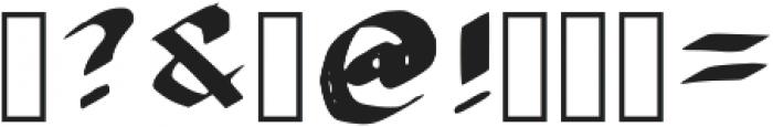 Brush Blackletter Regular otf (900) Font OTHER CHARS