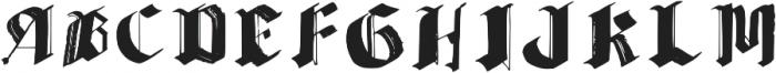 Brush Blackletter Regular otf (900) Font UPPERCASE