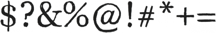 Brush Serif - Julian otf (400) Font OTHER CHARS
