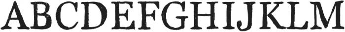 Brush Serif - Julian otf (400) Font UPPERCASE