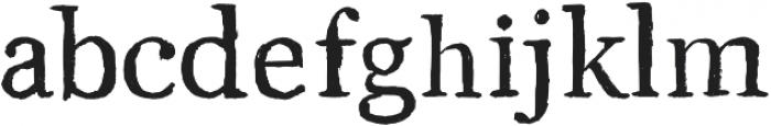 Brush Serif - Julian otf (400) Font LOWERCASE