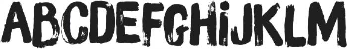 Brush Up otf (400) Font LOWERCASE