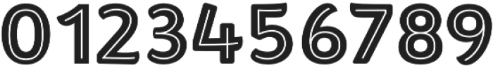 Brushability Sans Inline otf (400) Font OTHER CHARS