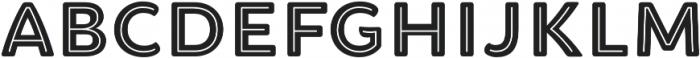 Brushability Sans Inline otf (400) Font LOWERCASE