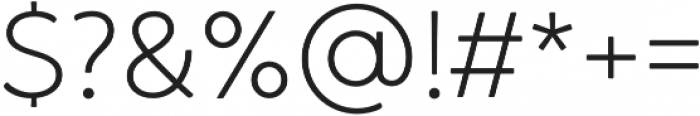 Brushability Sans Light otf (300) Font OTHER CHARS