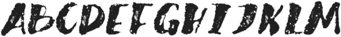 Brushed otf (400) Font UPPERCASE