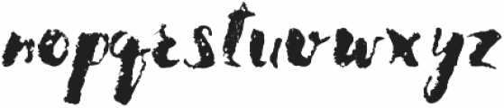 Brushed otf (400) Font LOWERCASE