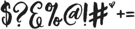 Brushfire otf (400) Font OTHER CHARS