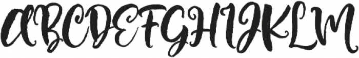 Brushfire otf (400) Font UPPERCASE
