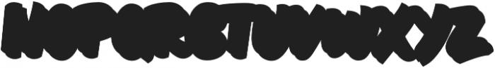 Brushill Extrude otf (400) Font LOWERCASE