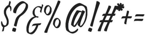Brushing otf (400) Font OTHER CHARS