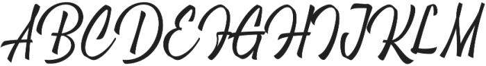 Brushing otf (400) Font UPPERCASE