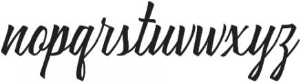 Brushing otf (400) Font LOWERCASE