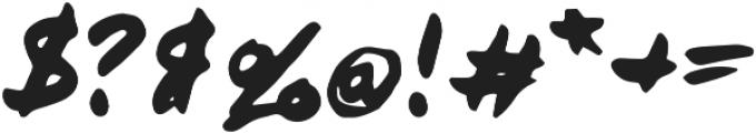 Brushnote Regular otf (400) Font OTHER CHARS
