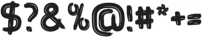 Brushtype Od Bold otf (700) Font OTHER CHARS