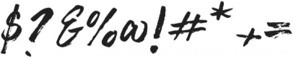 Brushy Regular otf (400) Font OTHER CHARS