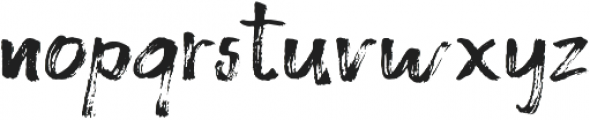 Brushy Regular otf (400) Font LOWERCASE