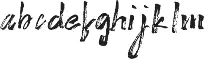 Brushy Regular ttf (400) Font LOWERCASE