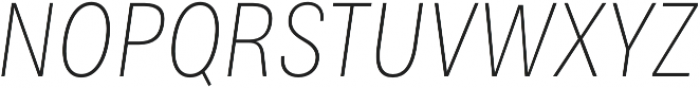 Bruta Pro Condensed Extra Light Italic otf (200) Font UPPERCASE