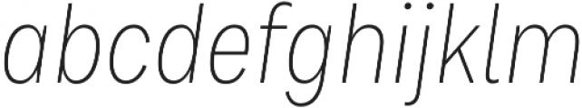 Bruta Pro Condensed Extra Light Italic otf (200) Font LOWERCASE