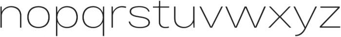 Bruta Pro Extended Extra Light otf (200) Font LOWERCASE