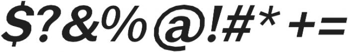 Brute Sans DemiBold Italic otf (600) Font OTHER CHARS