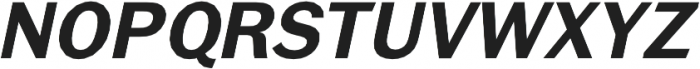 Brute Sans DemiBold Italic otf (600) Font UPPERCASE