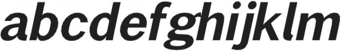 Brute Sans DemiBold Italic otf (600) Font LOWERCASE