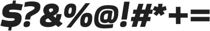Bruum FY Black Italic otf (900) Font OTHER CHARS
