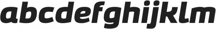 Bruum FY Black Italic otf (900) Font LOWERCASE