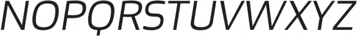 Bruum FY Light Italic otf (300) Font UPPERCASE