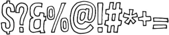 brooklyncoffe line otf (400) Font OTHER CHARS