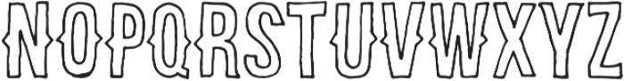 brooklyncoffe line otf (400) Font UPPERCASE