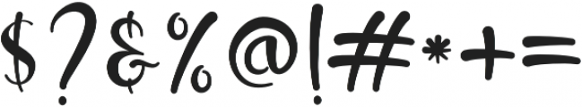 brush kencur Regular otf (400) Font OTHER CHARS
