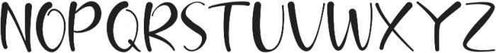 brush kencur Regular otf (400) Font UPPERCASE