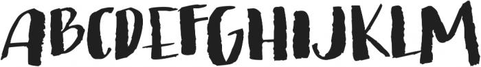 brushed ttf (300) Font UPPERCASE