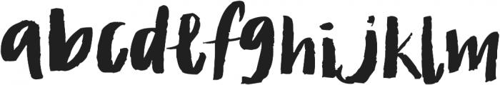 brushed ttf (300) Font LOWERCASE