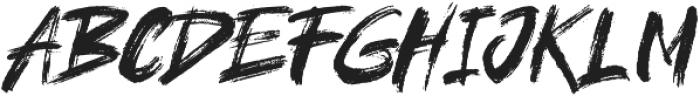 brushield otf (400) Font UPPERCASE